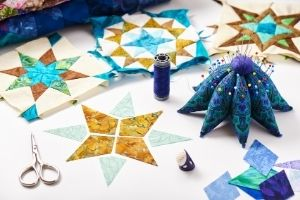 Small Gold Star Piecing
