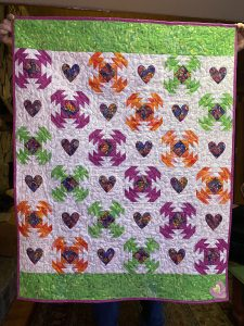 Pineapple Hearts Quilt